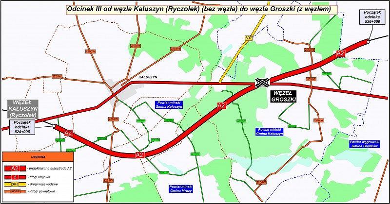Nowy odcinek A2 między Warszawą a Siedlcami