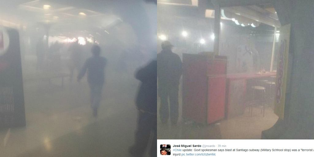 Wybuch w metrze w Santiago