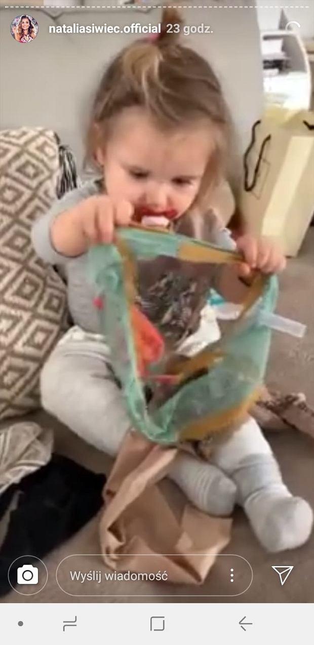 Natalia Siwiec pokazała zabawne nagranie z córeczką. Mia miała nietypową zabawkę
