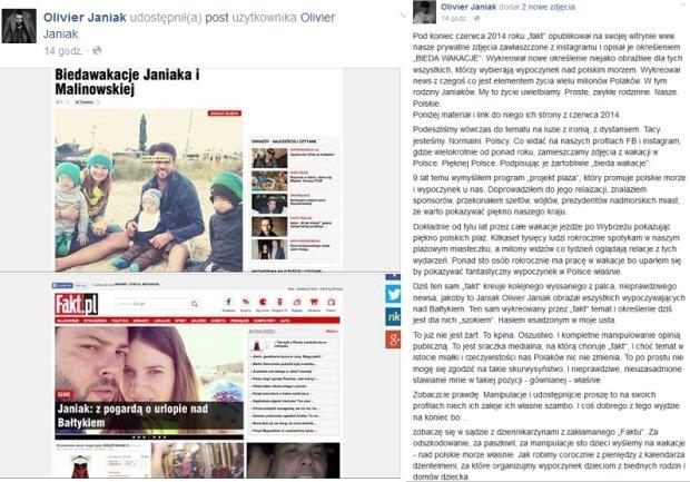 Oświadczenie Oliviera Janiaka
