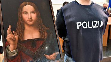 Włoscy policjanci odnaleźli skradzioną kopię obrazu 'Salvator Mundi'.