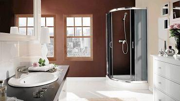 KABINY PRYSZNICOWE. Vanilia, drzwi suwane, 80 x 80 lub 90 x 90 cm, wys. 218,5 cm, szkło, Deante, od 1189 zł
