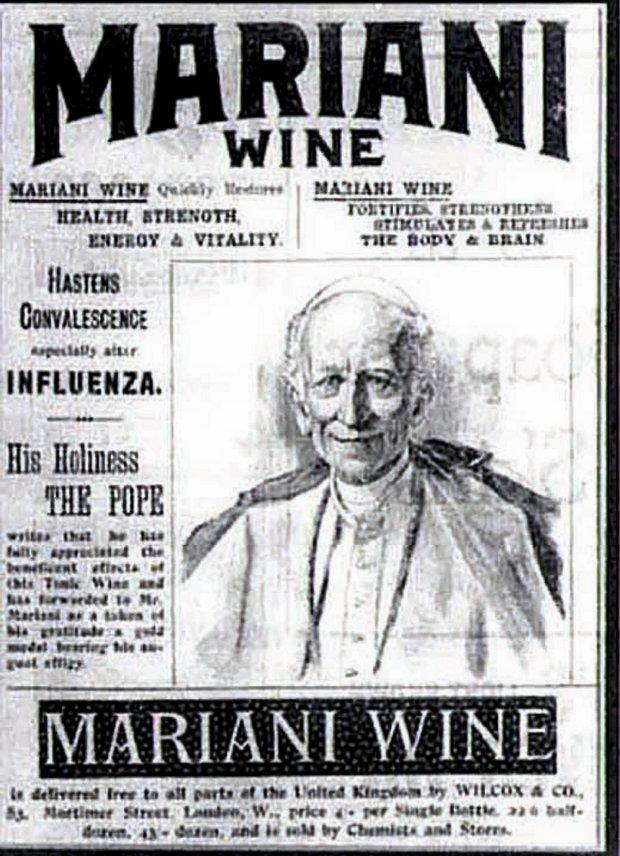 Ulotka reklamująca wino Marianiego