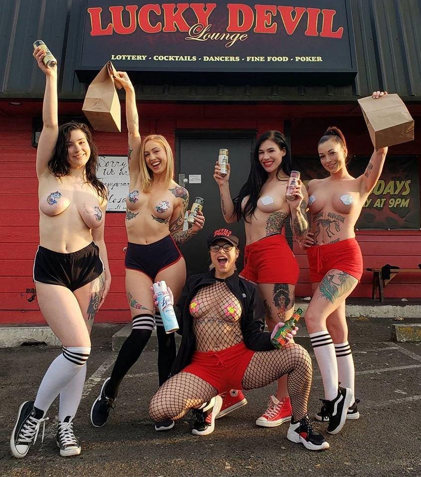 Striptizerki dostarczają jedzenie na wynos. Nietypowy pomysł klubu nocnego