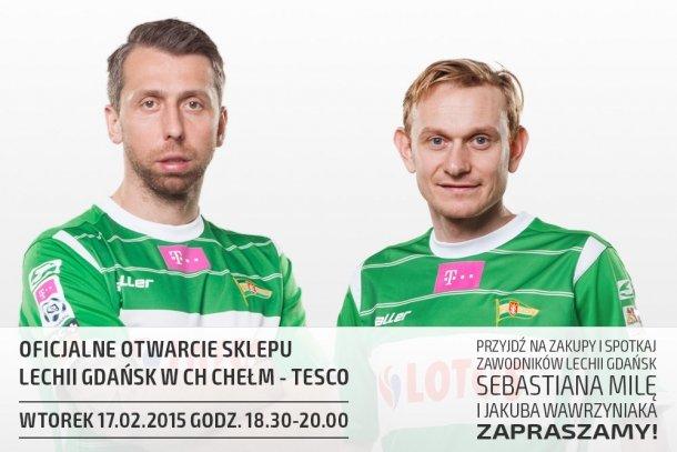 Jakub Wawrzyniak i Sebastian Mila otworzą sklep Lechii na Chełmie