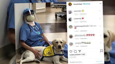 Zdjęcie lekarki z USA obiegło cały świat. Jej największym wsparciem emocjonalnym jest pies