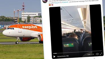 Steward wygłosił emocjonalne przemówienie do pasażerów