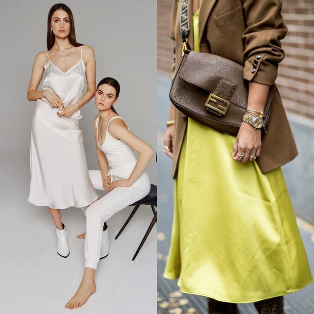 Sukienki midi z jedwabiu