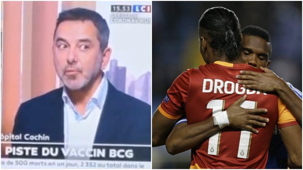 Francuski lekarz i Didier Drogba oraz Samuel Eto'o