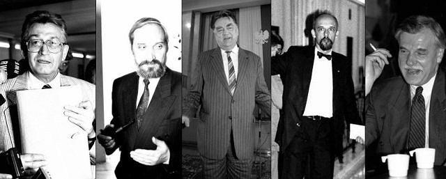 Leszek Moczulski, Antoni Macierewicz, Jan Olszewski, Janusz Korwin-Mikke, Andrzej Olechowski