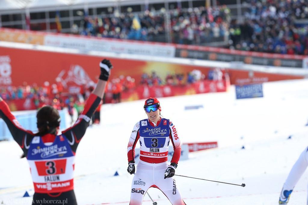 Justyna Kowalczyk i Sylwia Jaśkowiec świętują brązowy medal MŚ