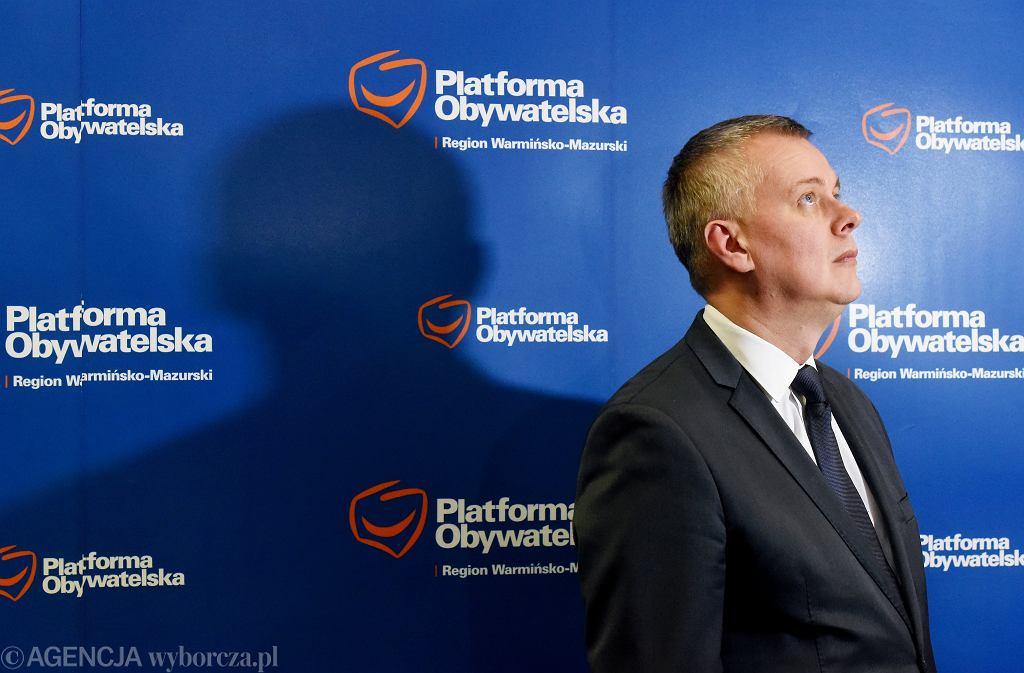 Tomasz Siemoniak w Olsztynie,m20 stycznia 2020