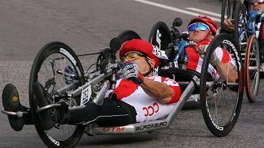 Rafał Wilk (na pierwszym planie) i Arkadiusz Skrzypiński (za nim) podczas jednego z wyścigów