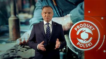 Jak ustaliła 'Rzeczpospolita' Andrzej Duda wystąpił na tle nielegalnego logo
