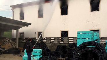 Pożar w ośrodku dla uchodźców w Bośni i Hercegowinie