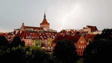 Burza z piorunami w Olsztynie