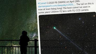 Kometa Swan na zdjęciach wygląda obłędnie. Lada dzień powinniśmy zobaczyć ją z Polski. Gołym okiem