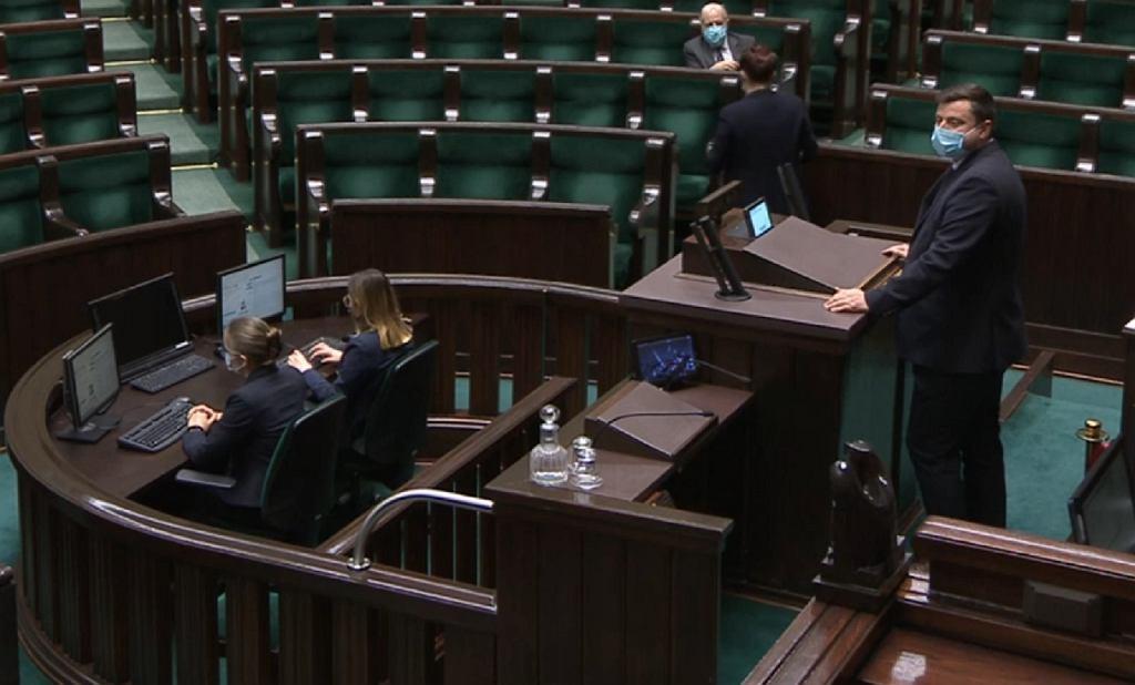Poseł Konfederacji Krzysztof Tuduj