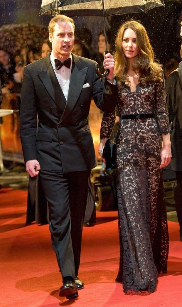 Prince William and Catherine, Duchess of Cambridge attends the UK premiere of War Horse at the Odeon Leicester Square on January 8, 2012 in London, ENGLAND-09/01/2012.