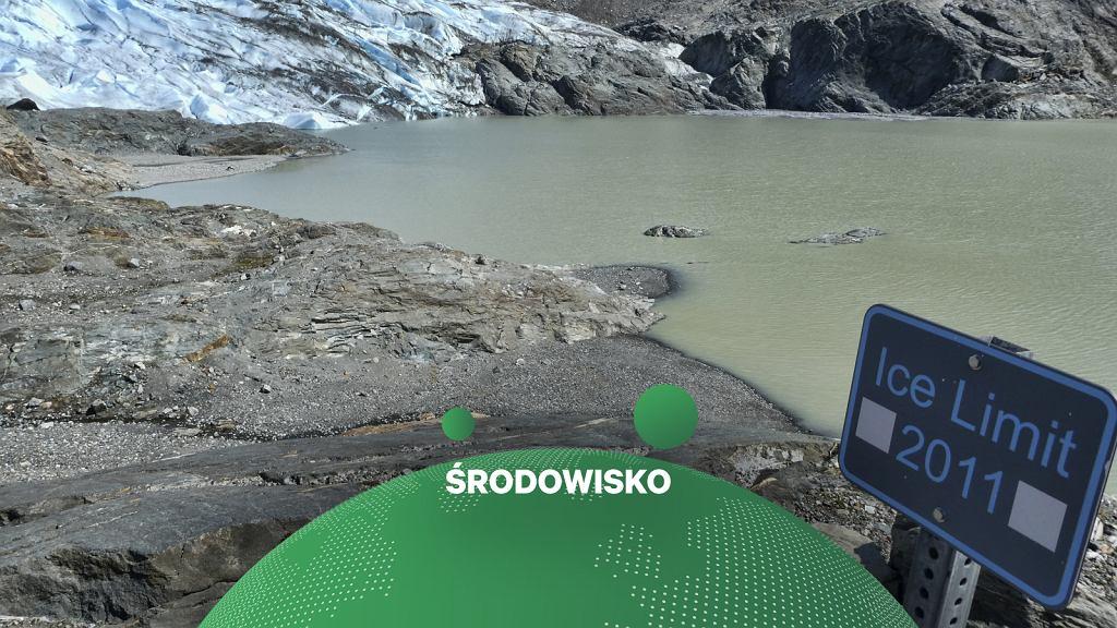 Topniejące lodowce. Na zdjęciu lodowiec Mendenhall na Alasce.