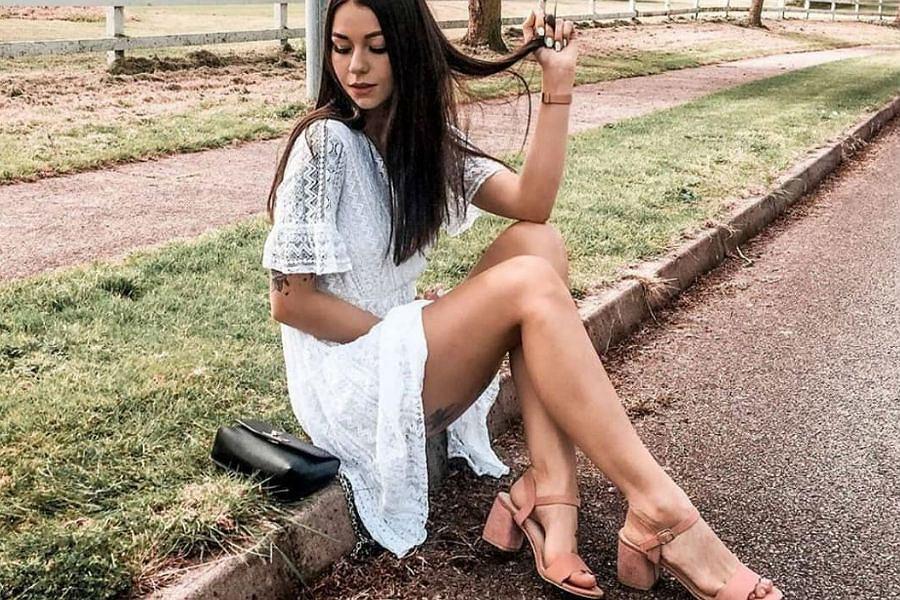 Letnia koronkowa sukienka biała