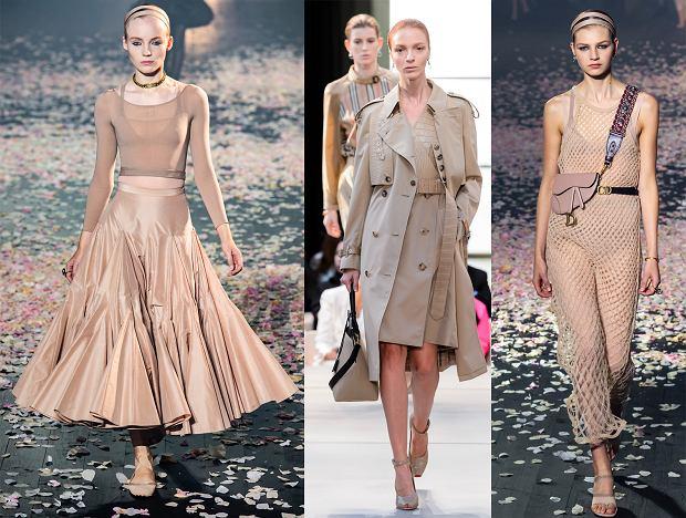 Jasne odcienie brązu w kolekcjach wiosna-lato 2019: Dior i Burberry