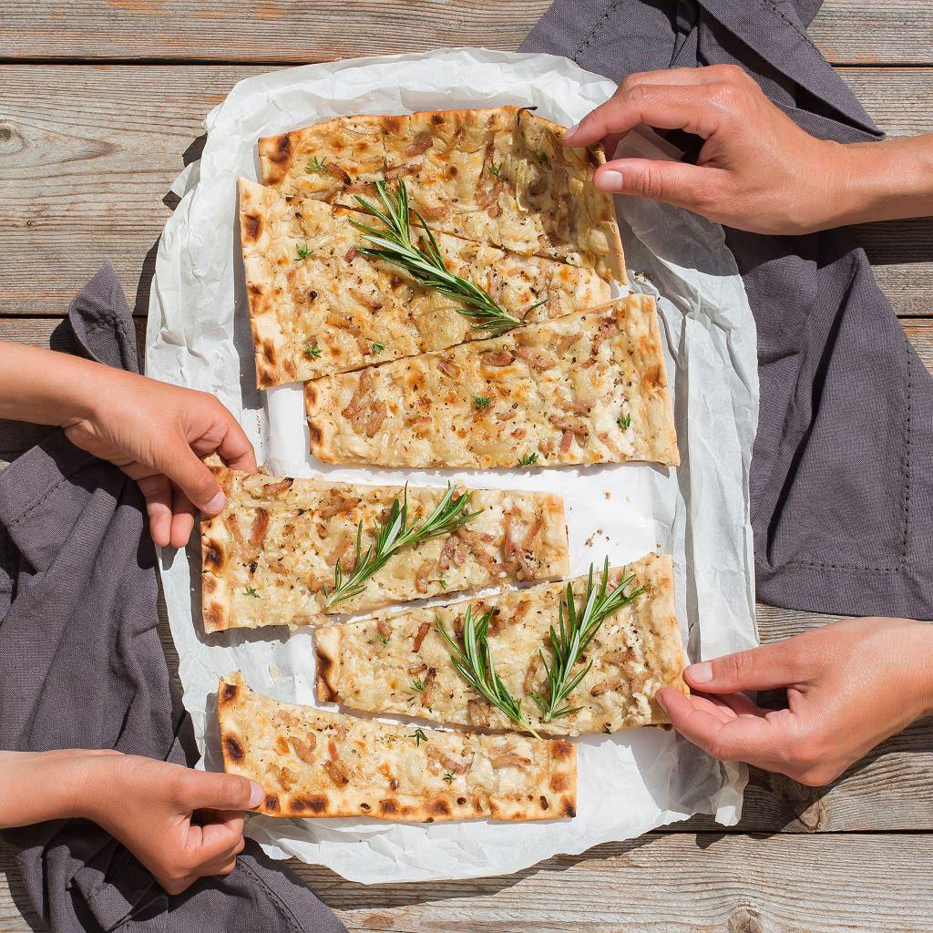 Alzacka pizza - Flammkuchen