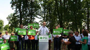 PSL-KP nieoficjalnie inauguruje kampanię wyborczą do Sejmu (Piątek, woj. łódzkie, 20.07.2019)