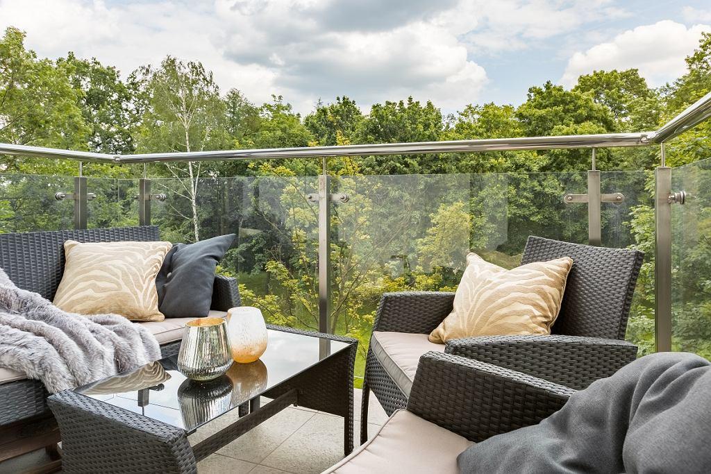 Meble balkonowe - komplet wypoczynkowy