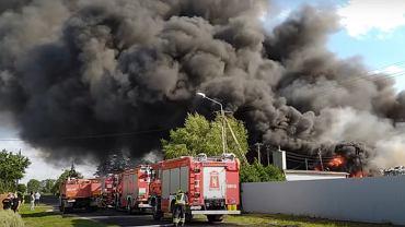 Pożar składowiska w Lisewie Kościelnym.