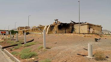 Opublikowane przez Iran zdjęcie uszkodzonego budynku w Natanz. Jest wykonane tak, że nie widać większości zniszczeń. Te pokazują zdjęcia satelitarne