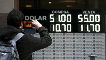 Argentyna. Silna przecena peso do dolara po prawyborach.