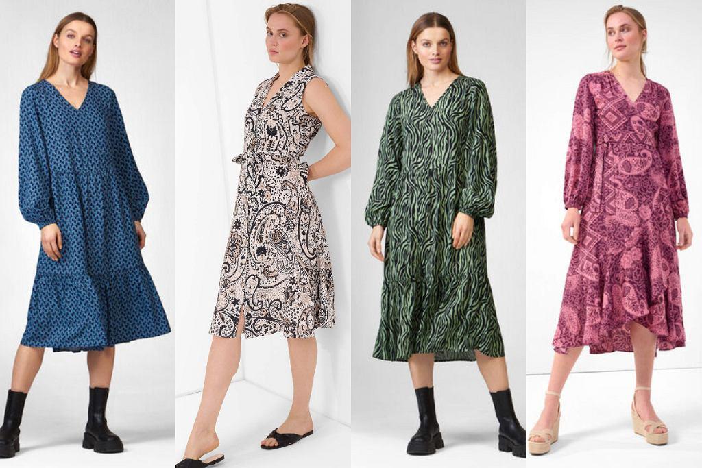Wzorzyste sukienki midi Orsay