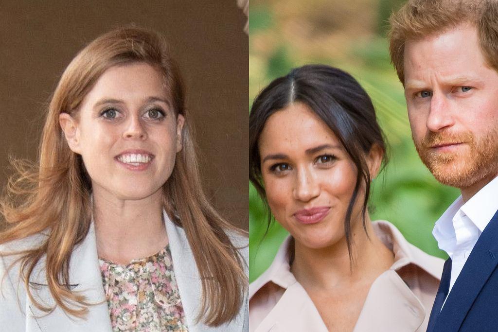 Księżniczka Beatrice, Meghan Markle, książę Harry