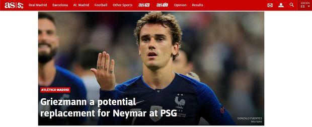 Antoine Griezmann potencjalnym następcą Neymara w PSG