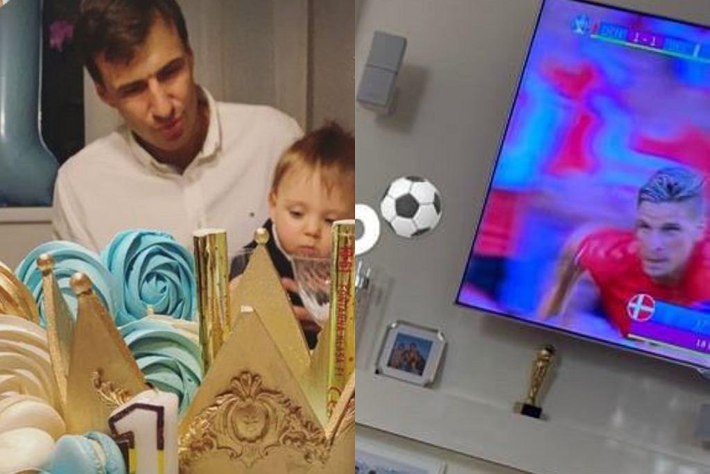 Jarosław Bieniuk ogląda mecz z Kazikiem