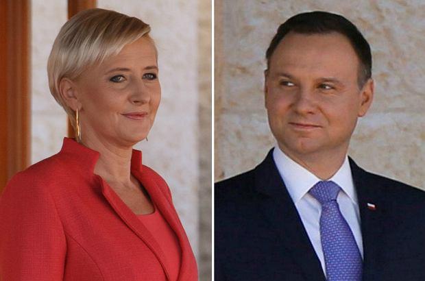 Zdjęcie numer 0 w galerii - Andrzej i Agata Duda z wizytą w Jordanii. Prezydent klasycznie, za to Pierwsza Dama zaszalała ze strojem [ZDJĘCIA]