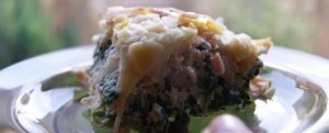 Lasagne szpinakowo-łososiowa