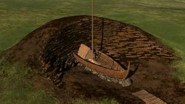 Rekonstrukcja łodzi wikingów odkrytej w zapomnianym kurhanie w Norwegii