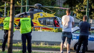 Tour de Pologne. Helikopter pogotowia na mecie pierwszego etapu w Katowicach