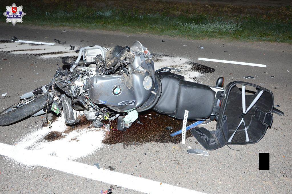 Lubelskie. Śmiertelny wypadek z udziałem motocyklisty