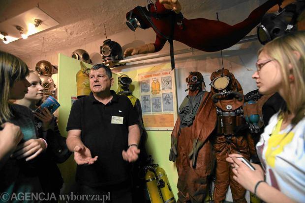 19.05.2012 WARSZAWA , NOC MUZEOW W MUZEUM NURKOWANIA .  FOT. BARTOSZ BOBKOWSKI / AGENCJA GAZETA SLOWA KLUCZOWE: NOC MUZEOW MUZEUM ZWIEDZANIE /FR/