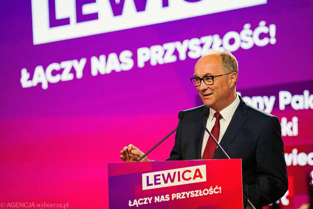 Włodzimierz Czarzasty na konwencji Lewicy