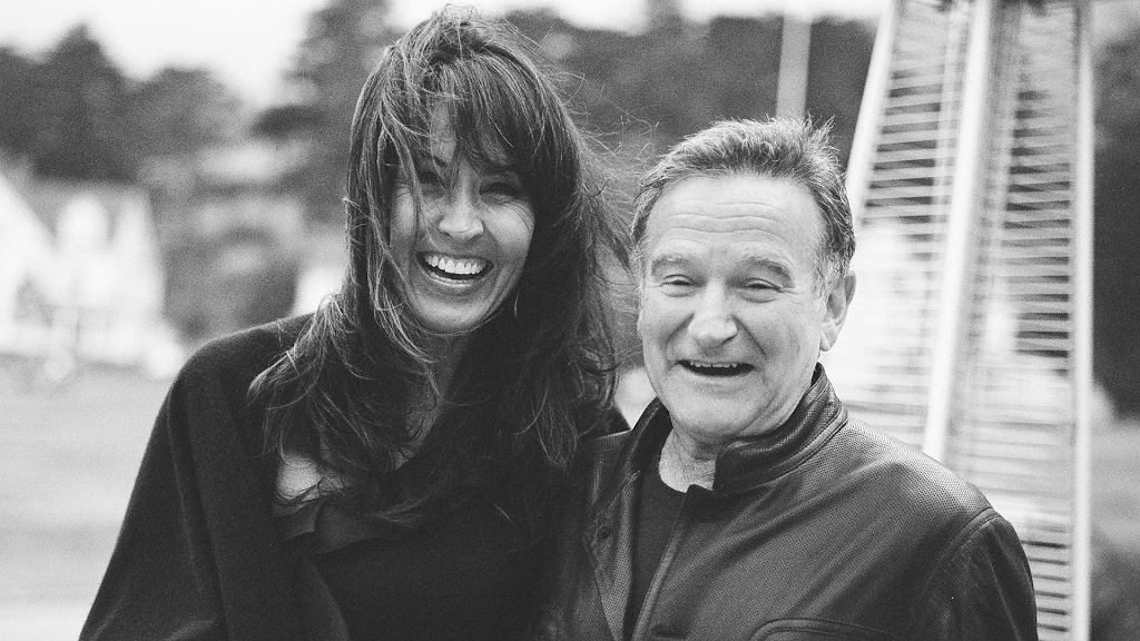 Aktor i komik Robin Williams (1951-2014) z żoną Susan. Kadr z filmu dokumentalnego 'Dzień dobry, Robin' (2020)