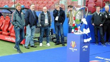 Trening Lecha Poznań na Stadionie Narodowym przed finałem Pucharu Polski
