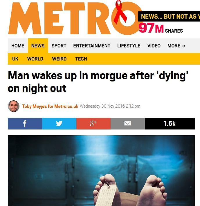 Artykuł z Metro