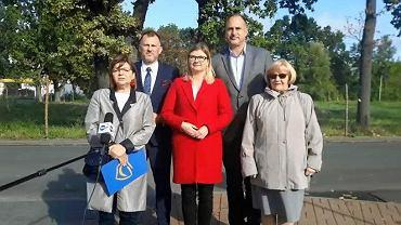 Częstochowa, 3 października 2019 r. Od lewej: Izabela Leszczyna, Łukasz Banaś, Marta Salwierak, Andrzej Szewiński i Halina Rozpondek