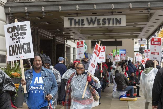 Strajk w Marriott International. Pracownicy wywalczyli podwyżki i ochronę przed gośćmi, którzy molestują ich seksualnie