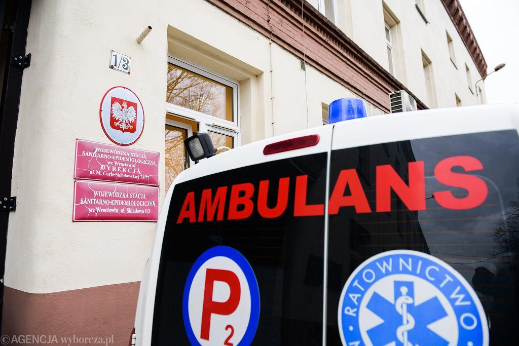 Sanepid. Wojewódzka Stacja Sanitarno-Epidemiologiczna przy ulicy Składowej we Wrocławiu, 2 marca 2020