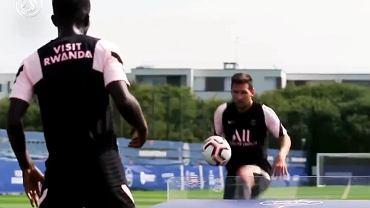 Leo Messi podczas treningu PSG